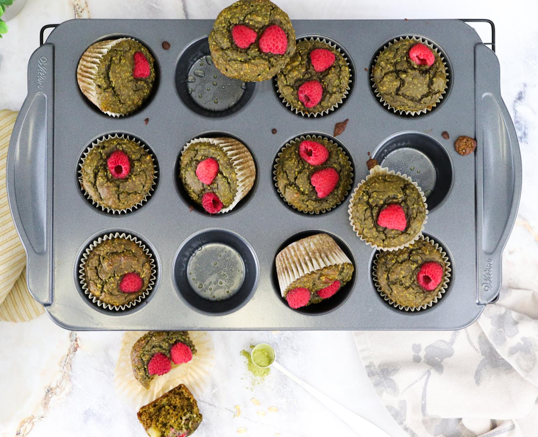 matcha-raspberry-oat-muffins