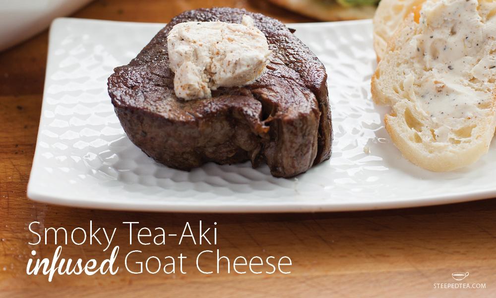 smoky-tea-aki-infused-goat-cheese